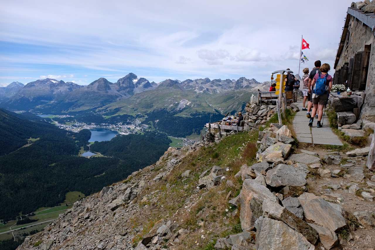 Blick auf St. Moritz von der Segantinihütte