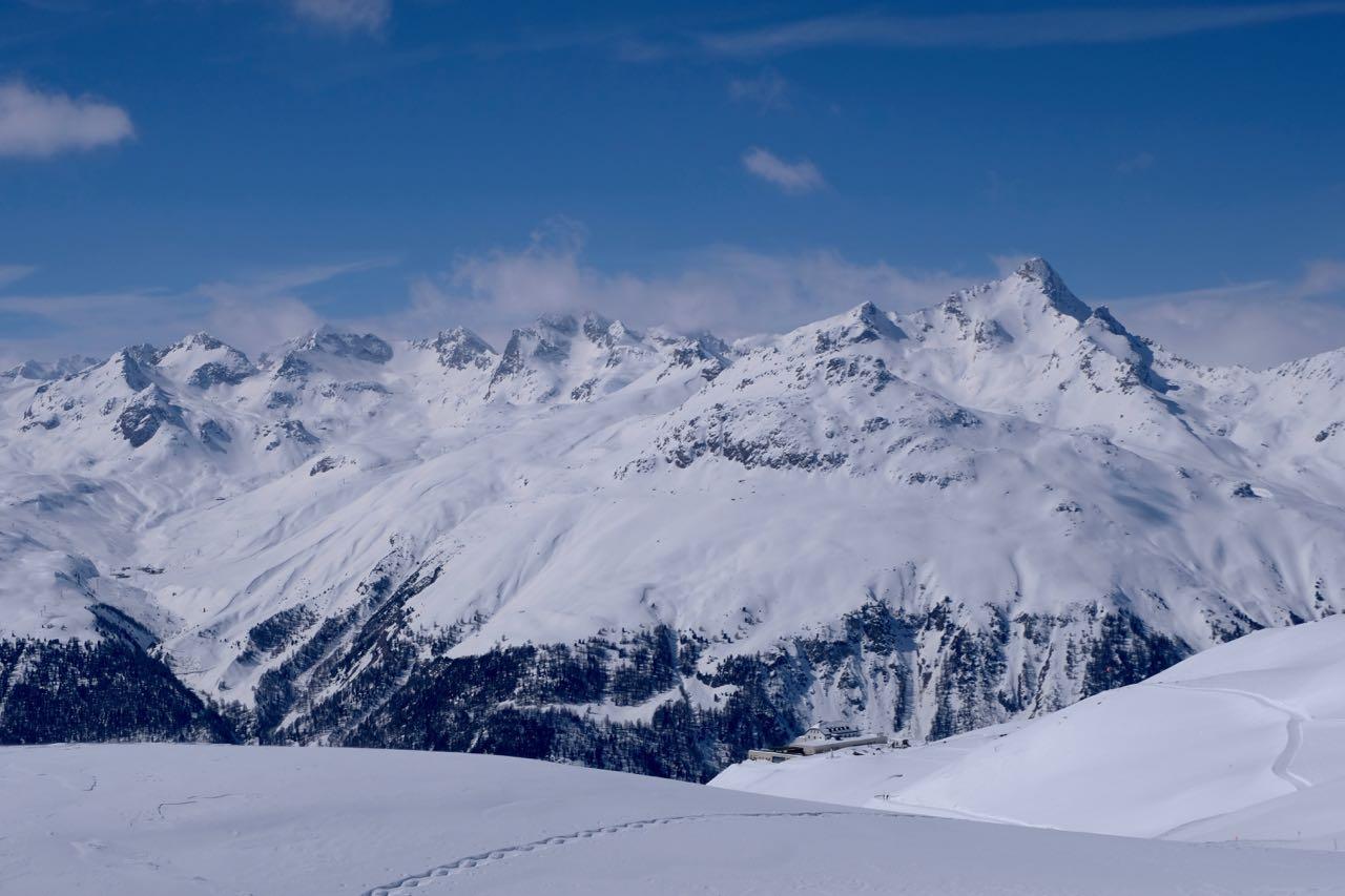 Bergpanorama Muottas Muragl, St. Moritz Oberengadin