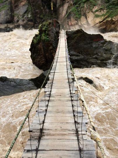 Hängebrücke zum Tiger Jumping Rock