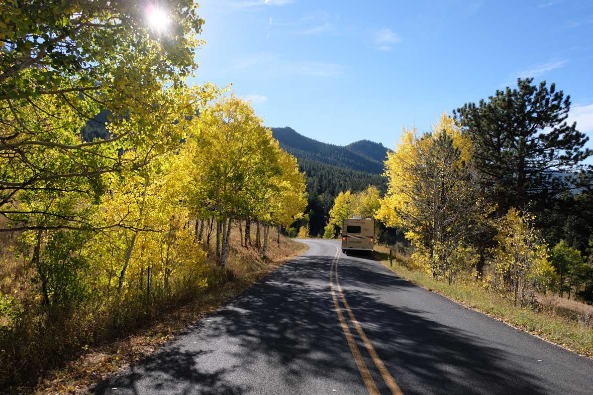 Trail Ridge Road, Herbst in Rocky Mountain Nationalpark