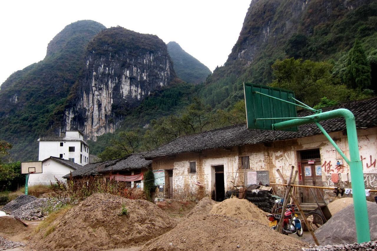Ein kleines Dorf auf der Wanderstrecke von Yangdi bis Xingping