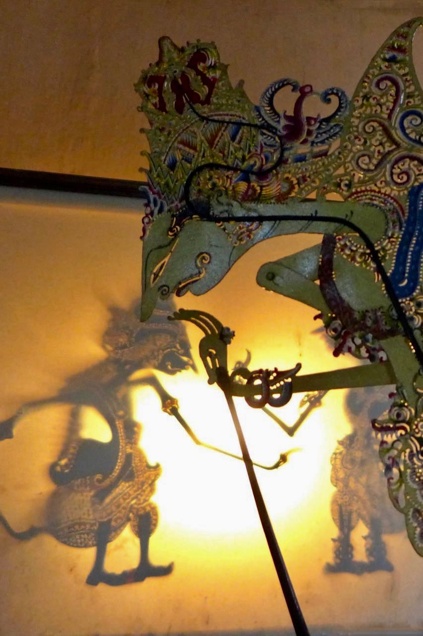 Berühmtes Schattenspiel von Yogyakarta