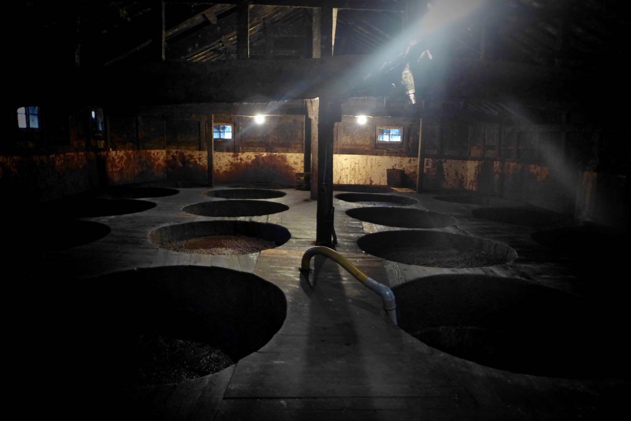 Historische Kadocho Shoyu Brauerei in Yuasa Wakayama