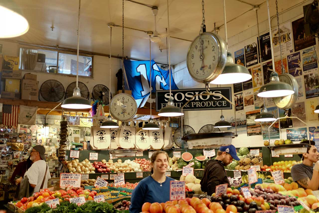 Nostalgischer Marktstand im Pike Place Market
