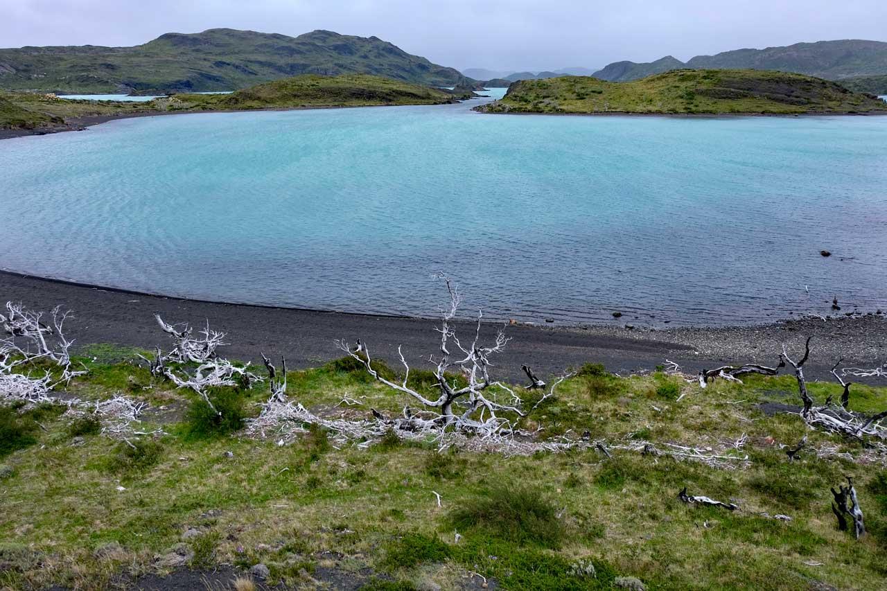 See auf der Wanderung Mirador Cuernos, Torres del Paine