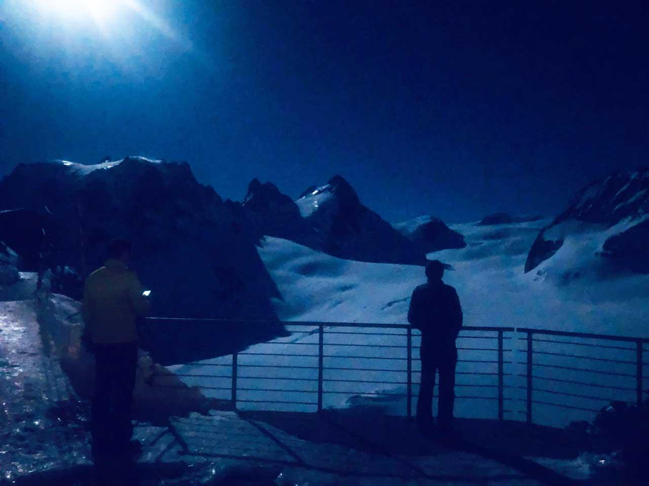 Vollmond über dem Collon Gletscher