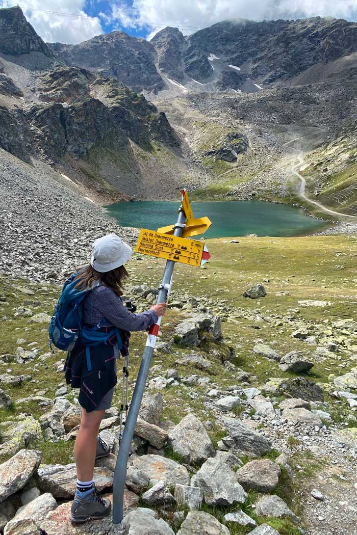 Wanderung Diavolezza  Bergsee