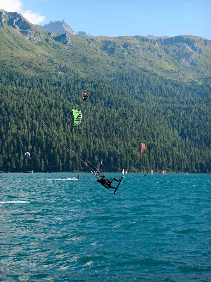 Kite Surfen Engadinwind St. Moritz Silvaplanersee