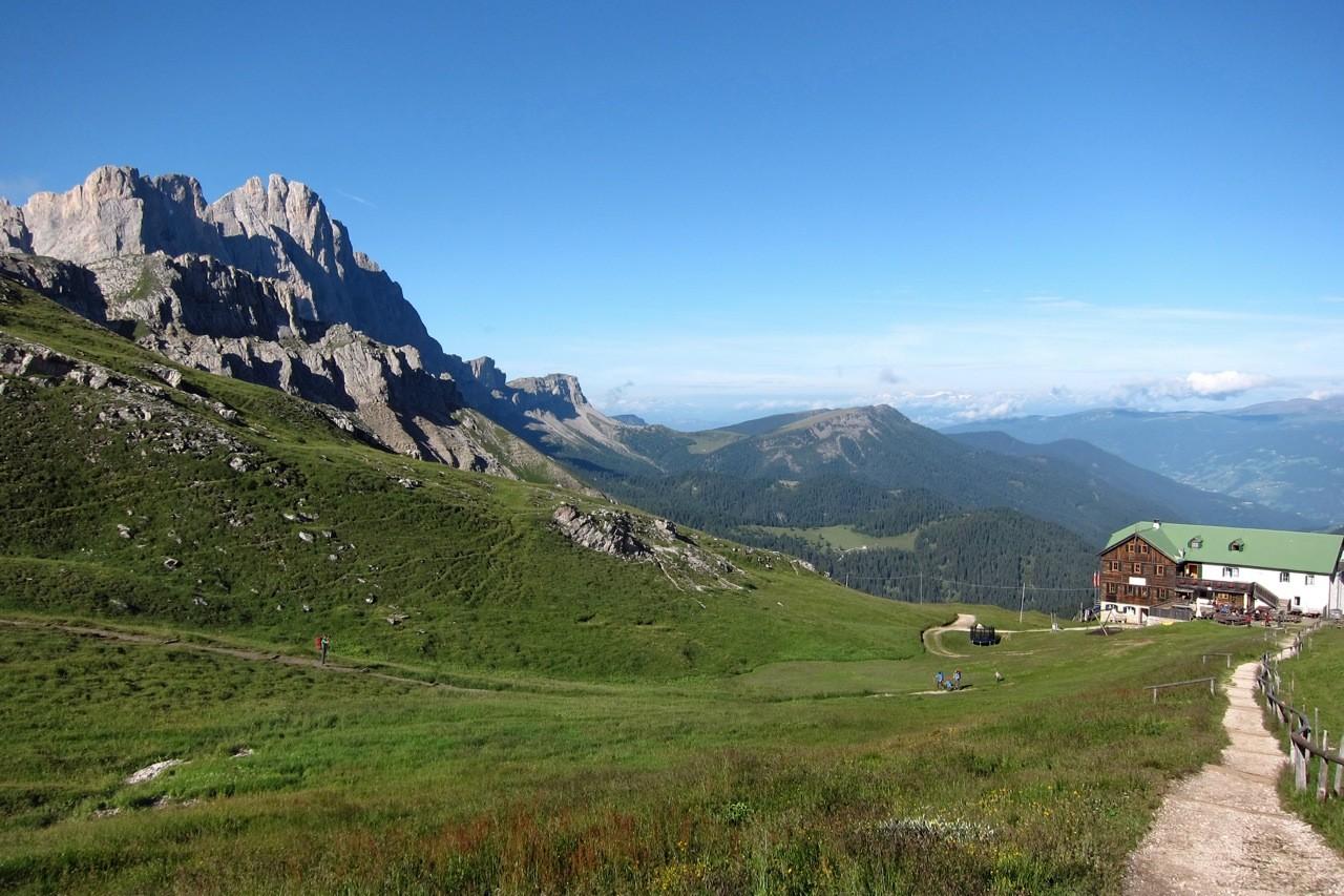 Anmarsch auf die Schlüterhütte, Südtirol