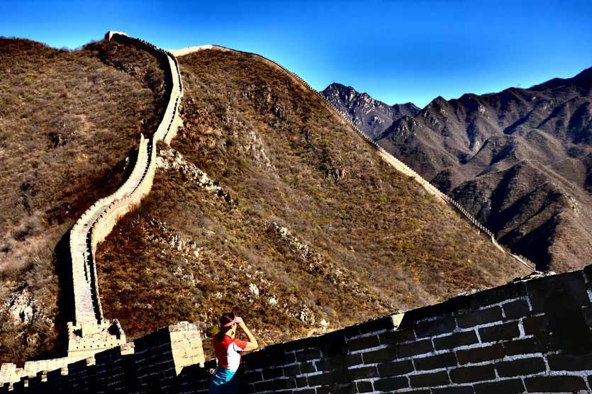 chinesische große mauer wanderung, great wall hiking
