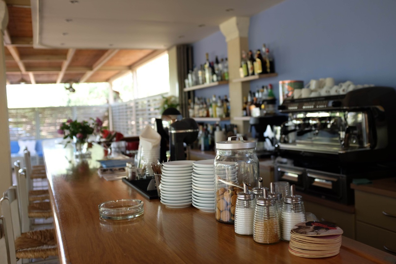 Nette Bar im Hotel Elies, Kardamili, Mani Peloponnes