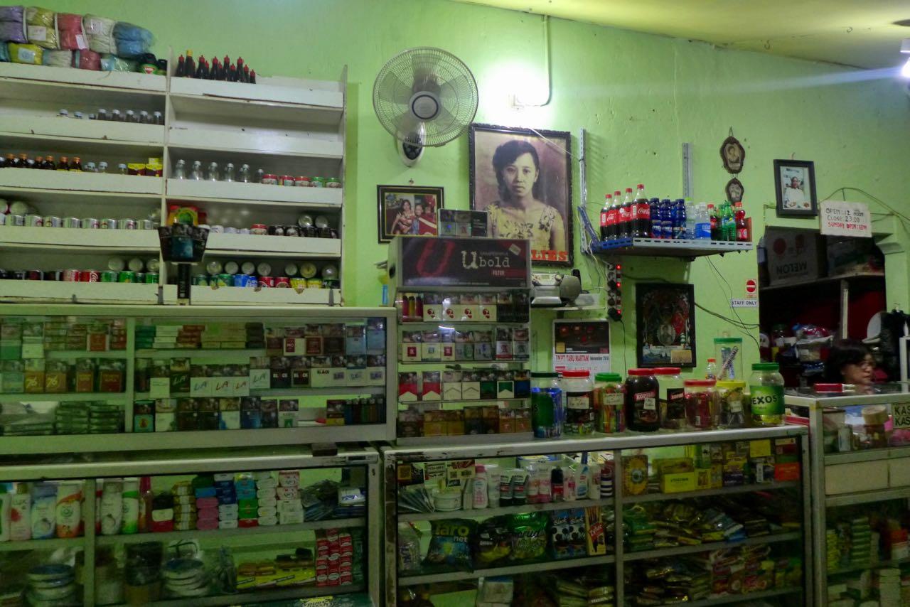 Laden in Yogyakarta, Java Indonesien