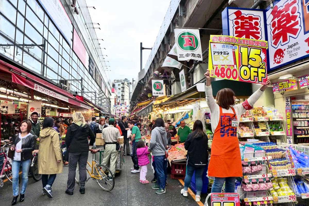 Ameyoko Market Shopping, Ueno Tokio