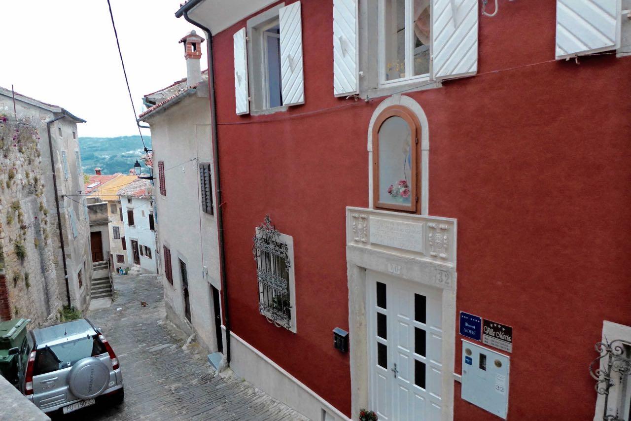 Eingang Villa Marija in Motovun