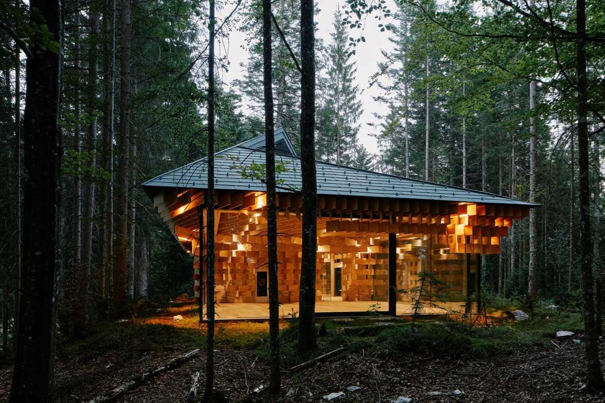 Das Kranzbach Meditation House von Stararchitekt Kengo Kuma