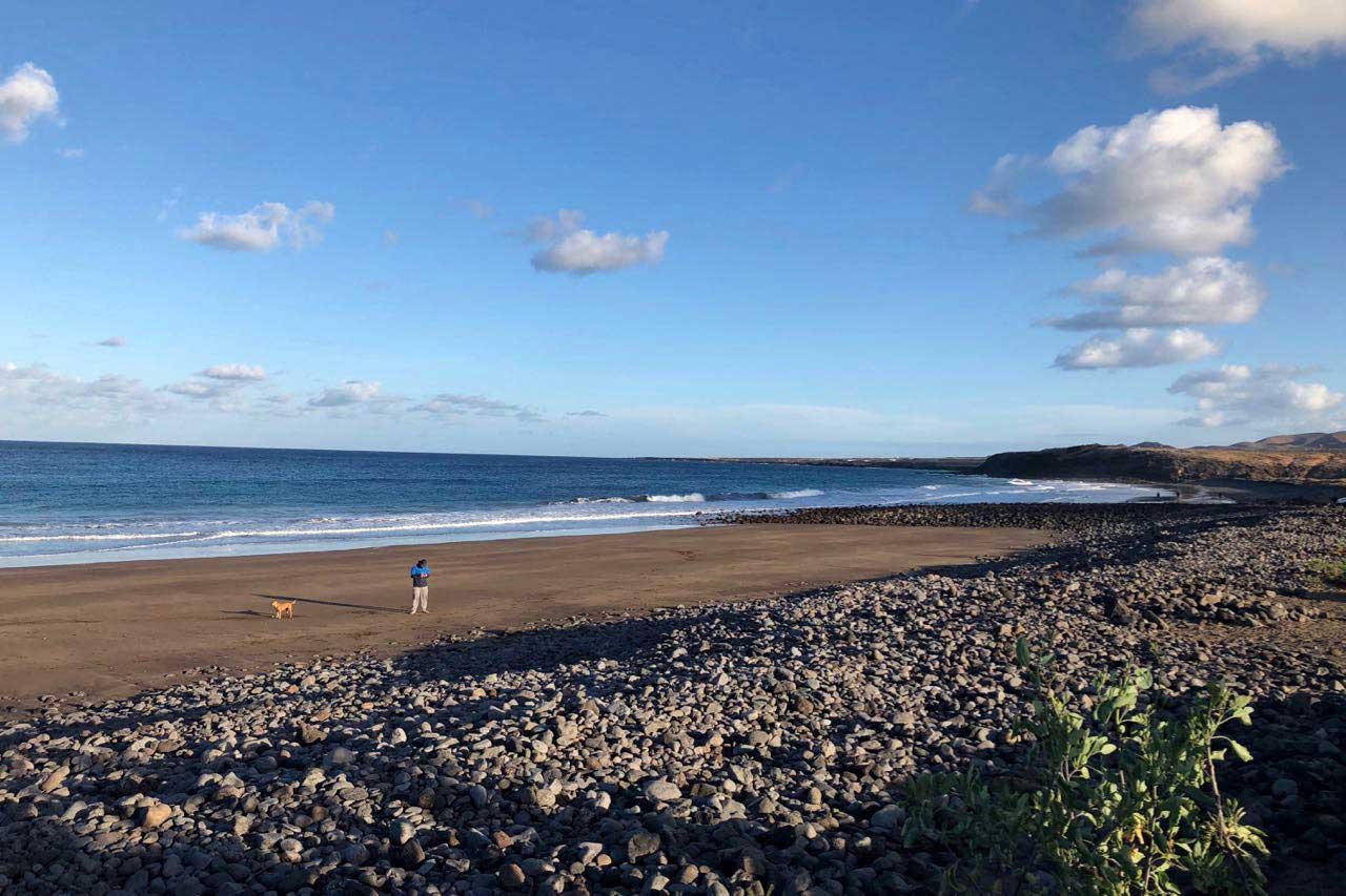 Der lange Strand von Arrieta, Lanzarote
