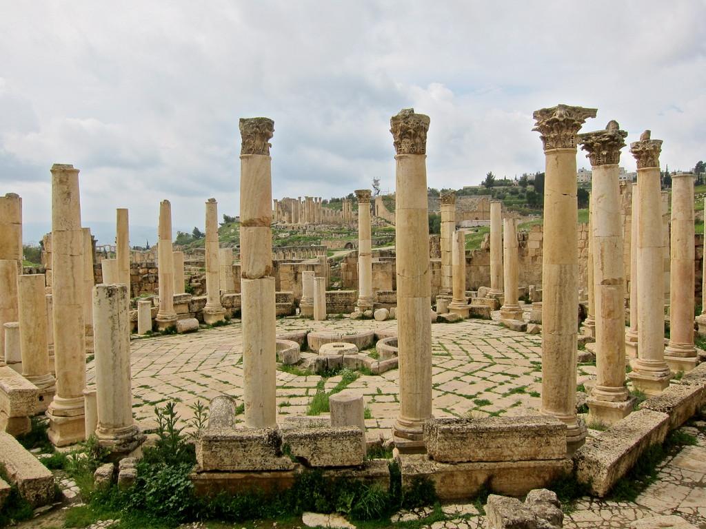 Macellum, der Lebensmittelmarkt in Jerash