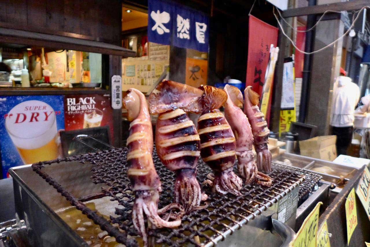 Grilled Sea Food –  Kuromon Ichiba Food Markt Osaka