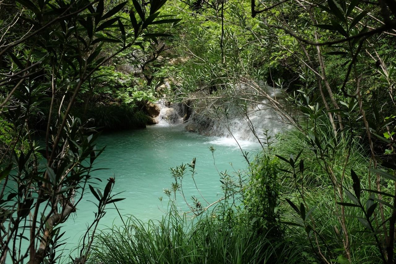 Wanderung Polylimnio Wasserfälle, Mani Peloponnes