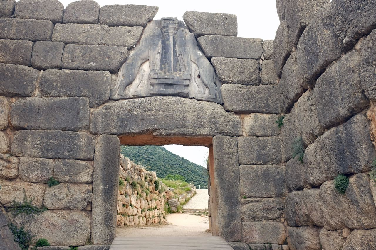 Der erste Anblick in Mykene – das Löwentor, Peloponnes