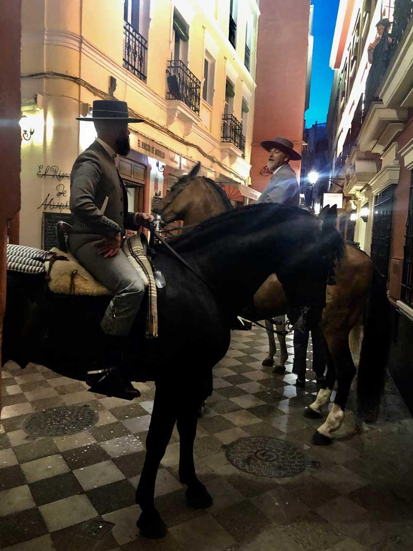 Feria Reiter in Sevilla