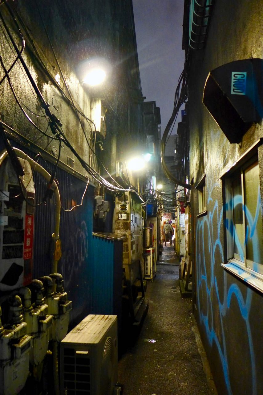 Gassen im Golden Gai District Shinjuku Tokio