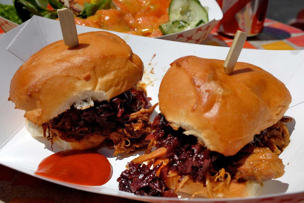 Mega Pulled Pork Burger, SOMA StrEat Food Park