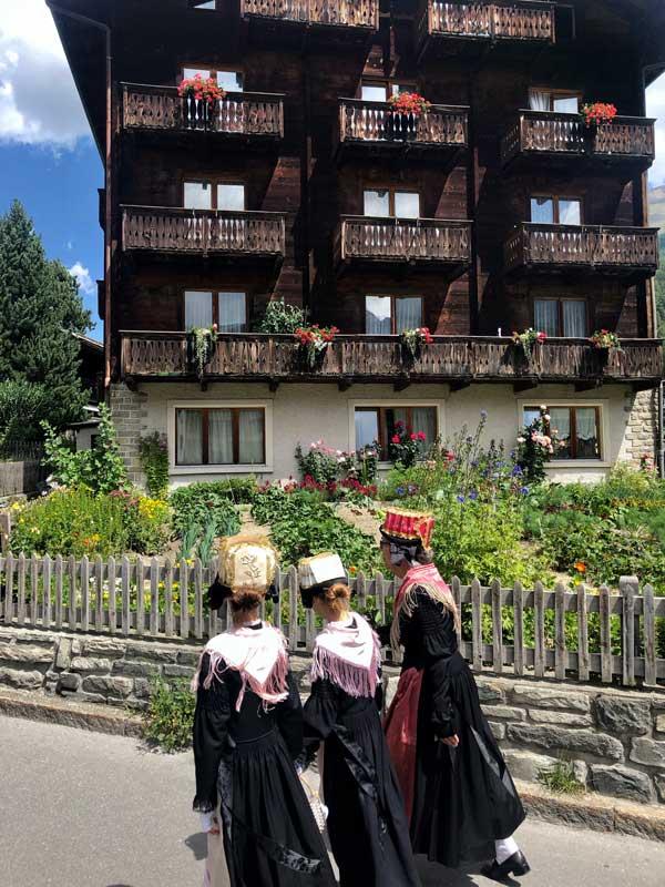 Wallisische Tracht in Zermatt