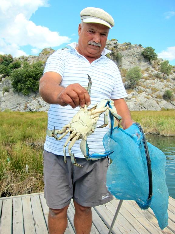 Krebse-Angeln mit unserem Kapitän, Dalyan Lykischen Küste