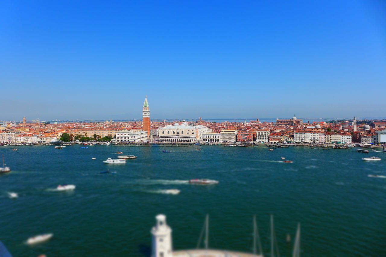Venedig Panorama vom  Glockenturm auf San Giorgio Maggiore