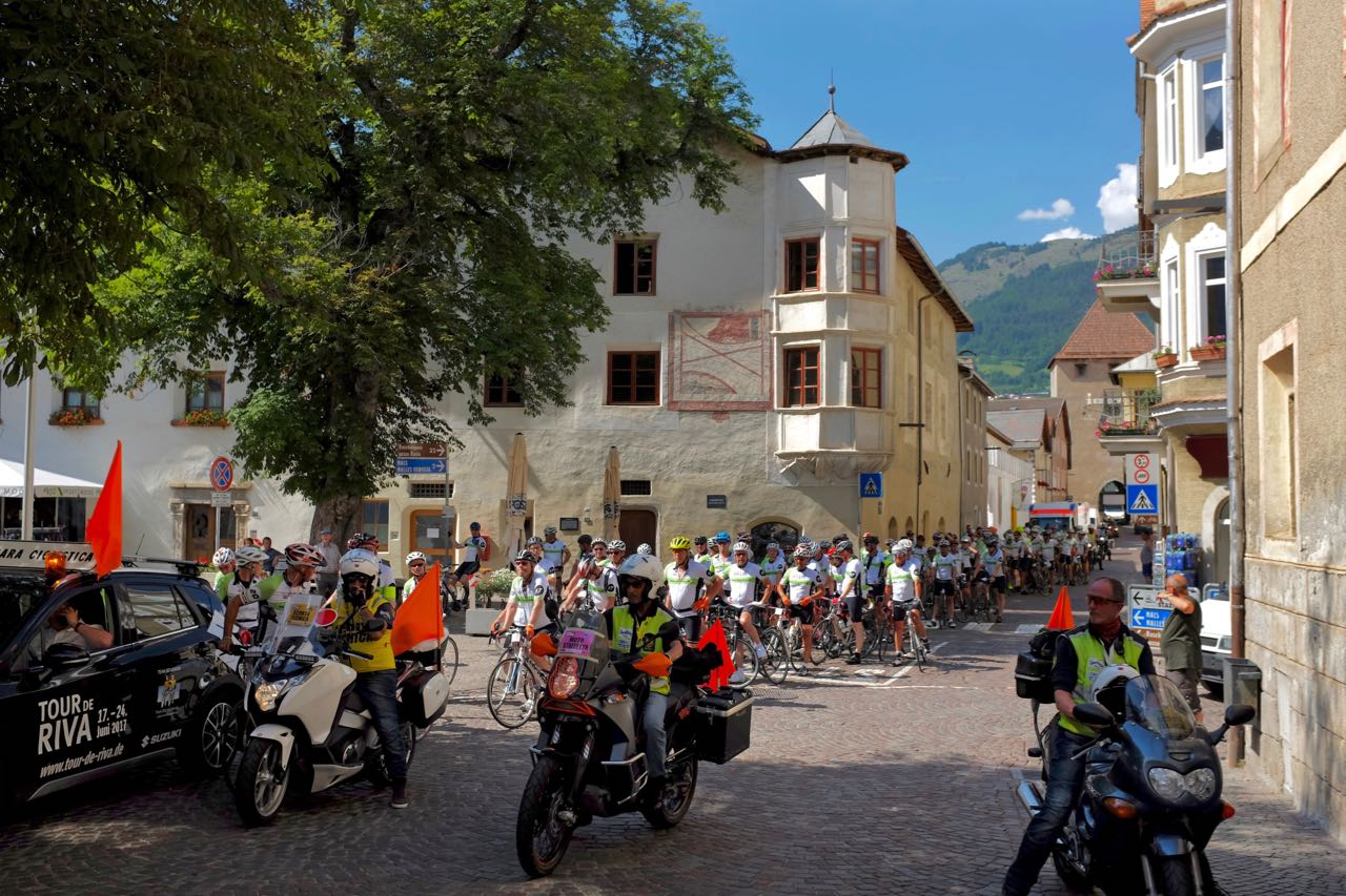 Glurns, ein beliebter Stopp bei Radtouren