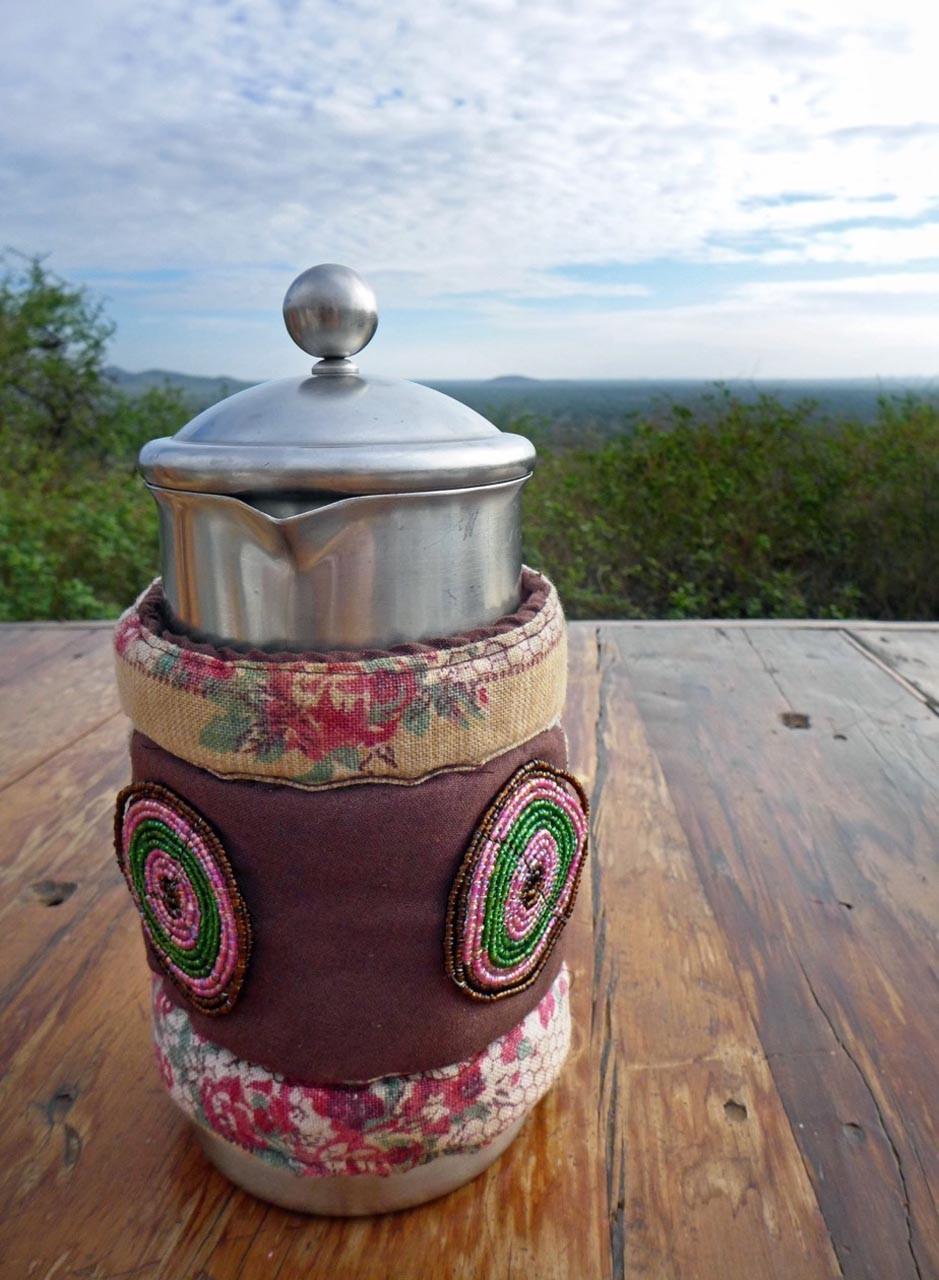 Kaffeekanne im Shu'mata Camp