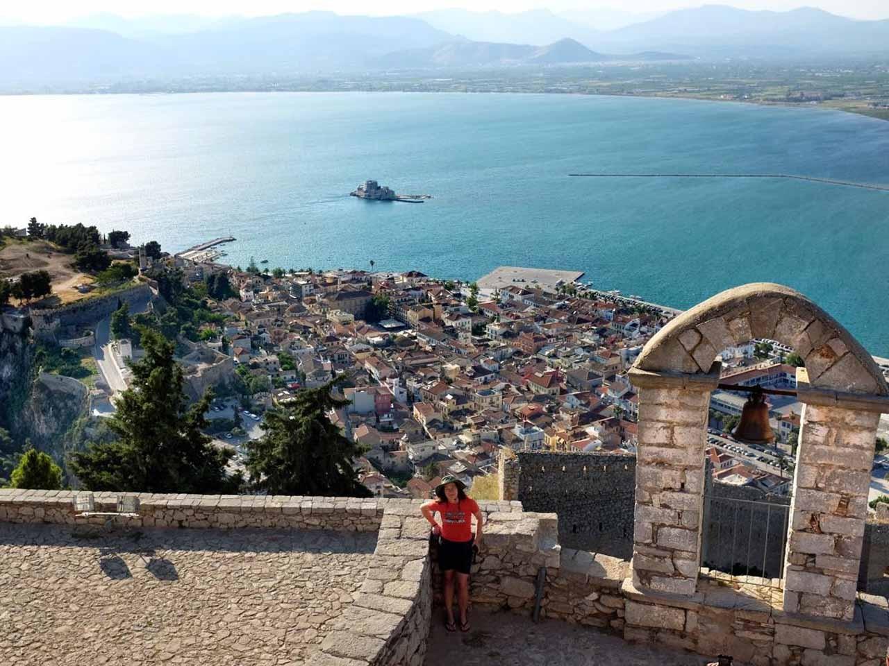 Traumhaft der Palamidi-Blick über die Stadt Nafplion, Peloponnes