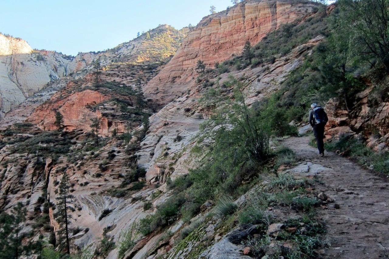 Aufstieg zum Observation Point, Zion NP Wanderung