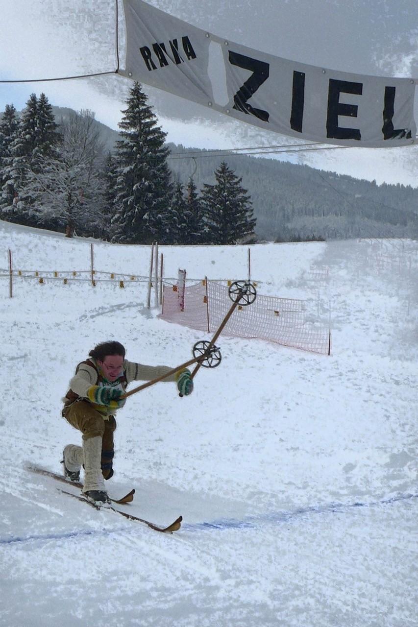 Im Ziel, Nostalgie Ski-WM in Leogang