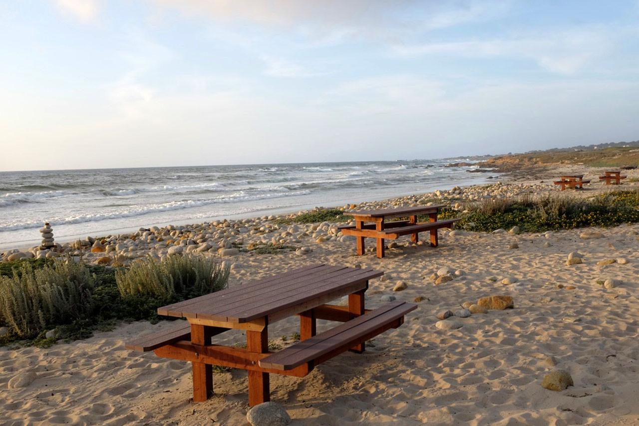 Picknickplatz am Coastal Trail bei Pacific Grove