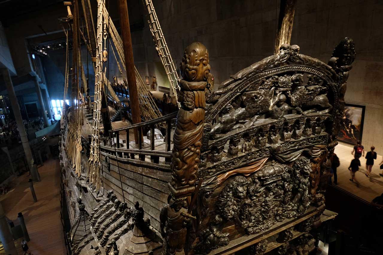 Das prachtvolle Vasa Schlachtschiff in Stockholm