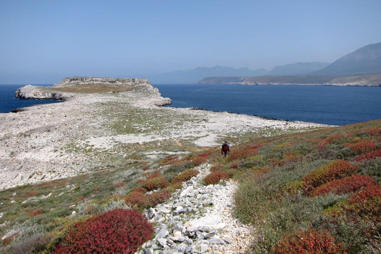 Auf Kap Tigani 'die Bratpfanne' wurde früher Salz gewonnen, Peloponnes