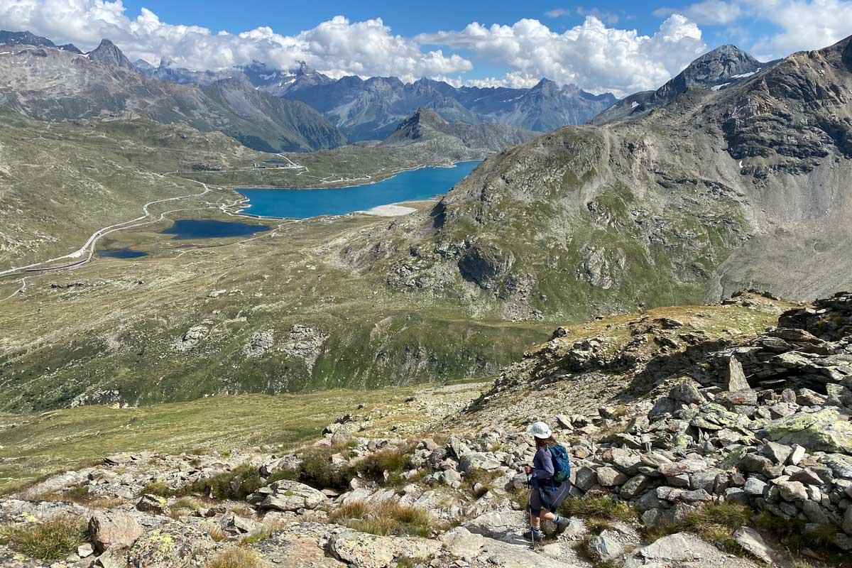 Abstieg von der Diavolezza Richtung Berninapass