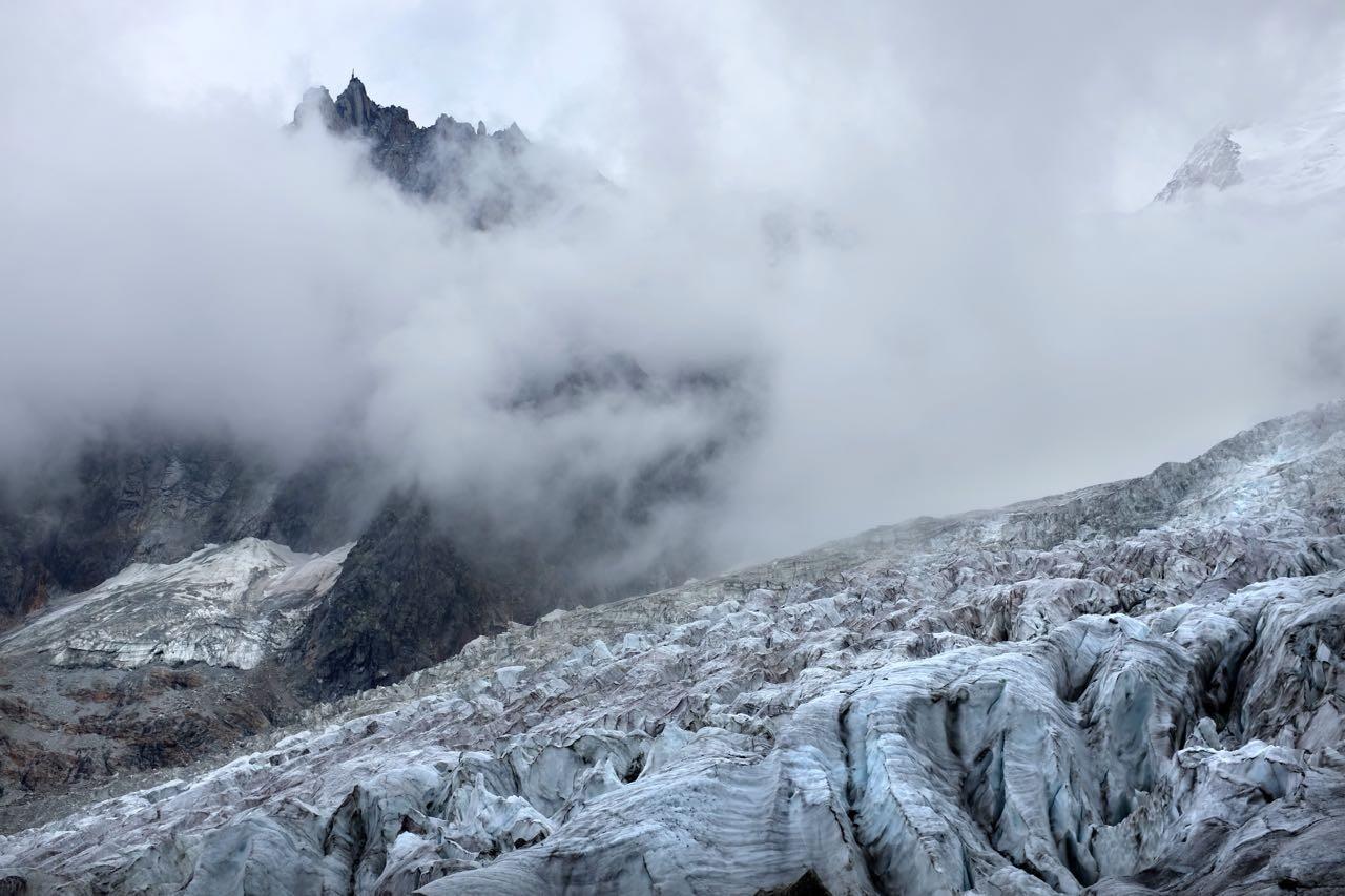 Das Ende der Tour an der La Jonction Gletscherkreuzung