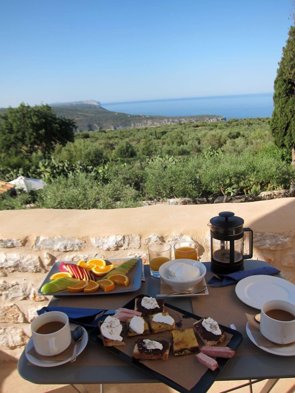 Außergewöhnlich gut das Frühstück im Antares Hotel Areopoli,  Mani Peloponnes