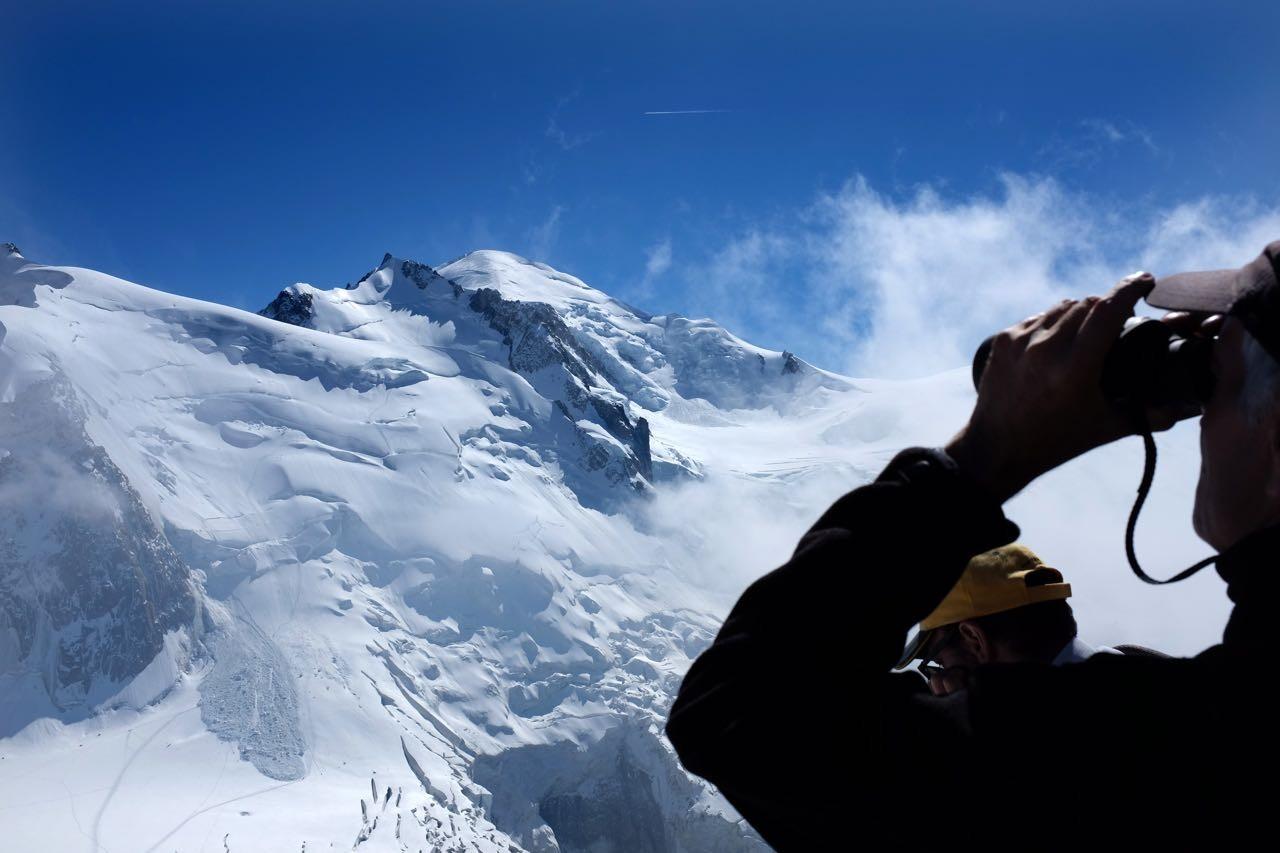 Die Mont Blanc Route mit abgegangener Lawine