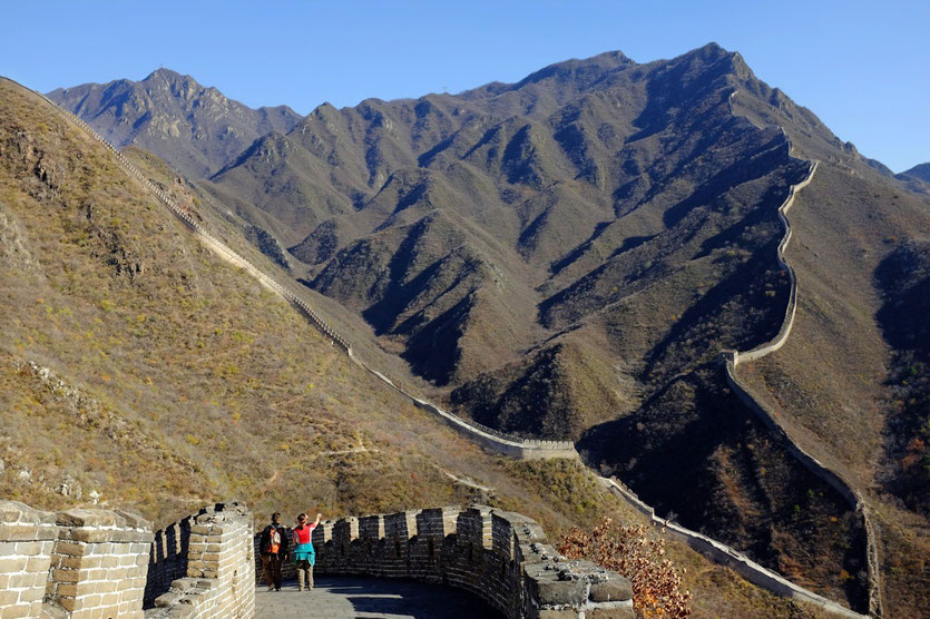 chinesische große mauer wanderung, great wall hiking beijing