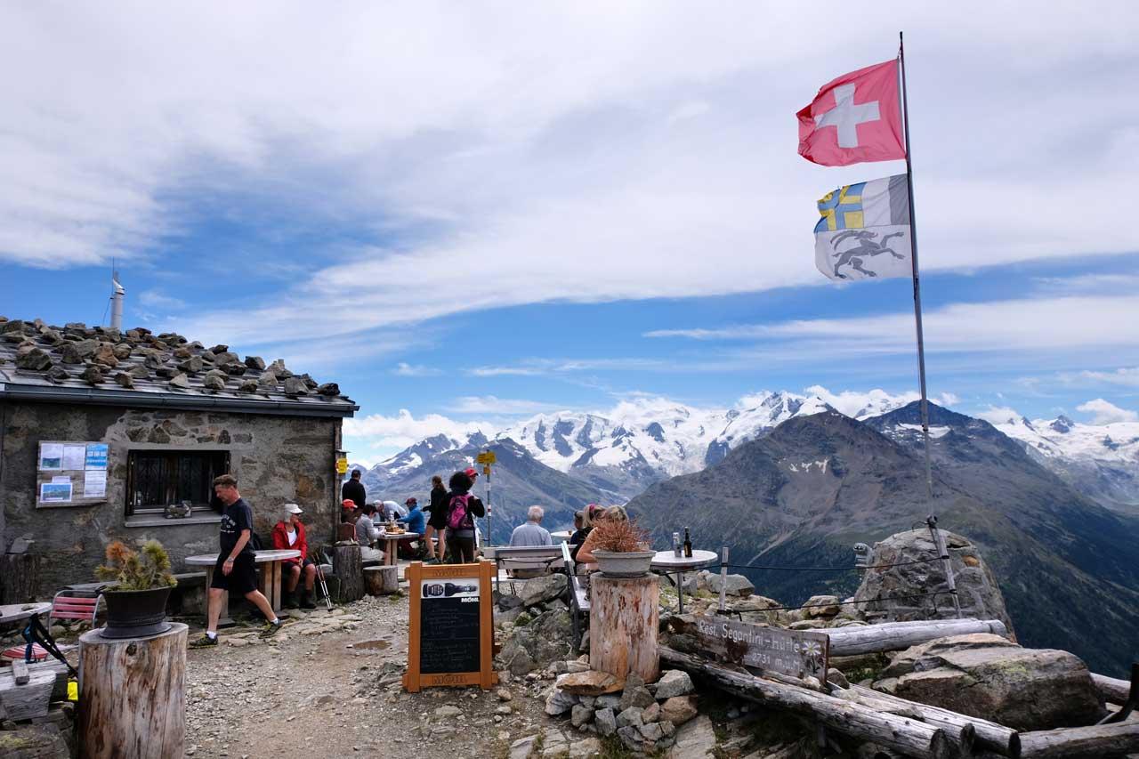 Blick in die Bernina-Alpen von der Segantinihütte