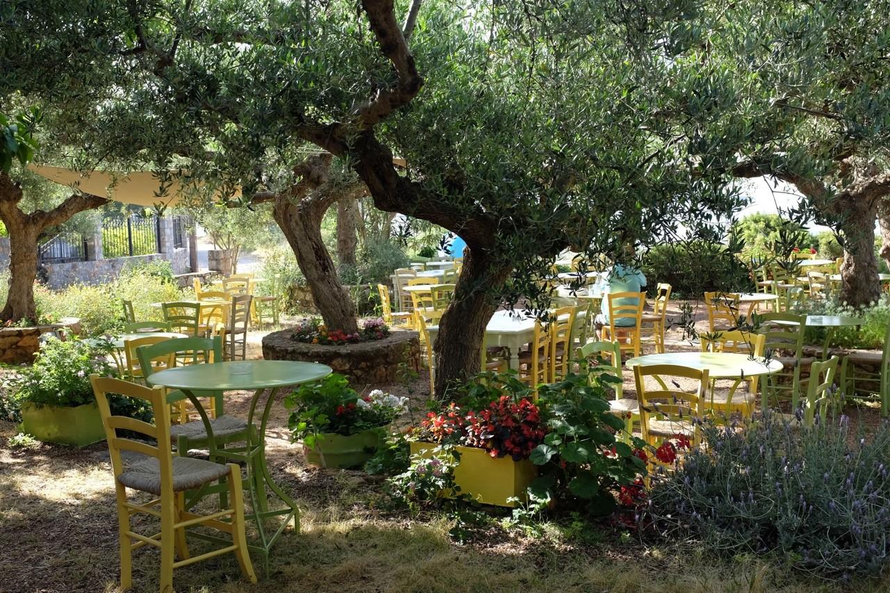 Gartenrestraurant des Hotel Elies, Kardamyli, Mani Peloponnes