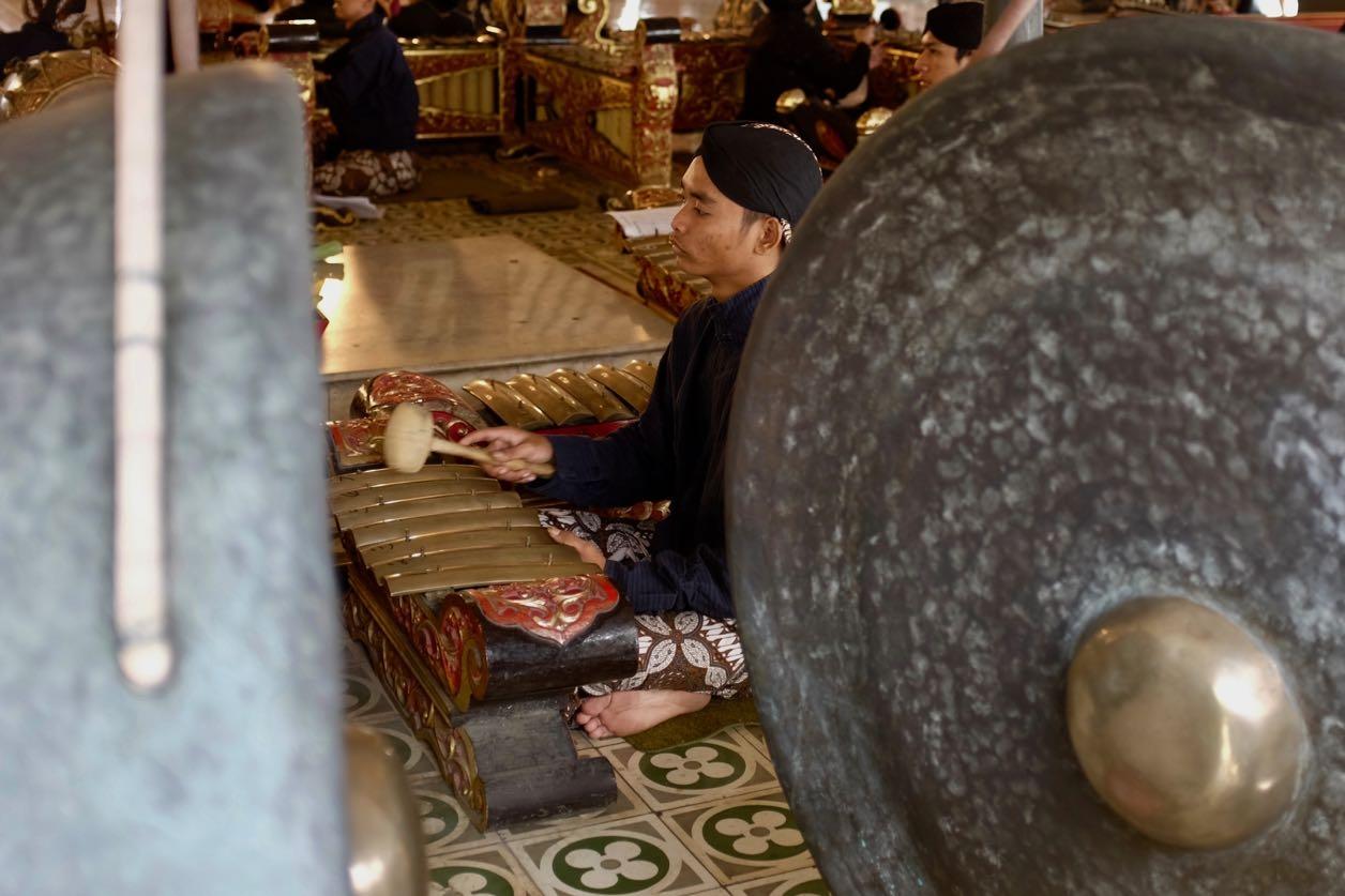 Aufführung im Kraton, Palastkomplex des amtierenden Sultans von Yogyakarta