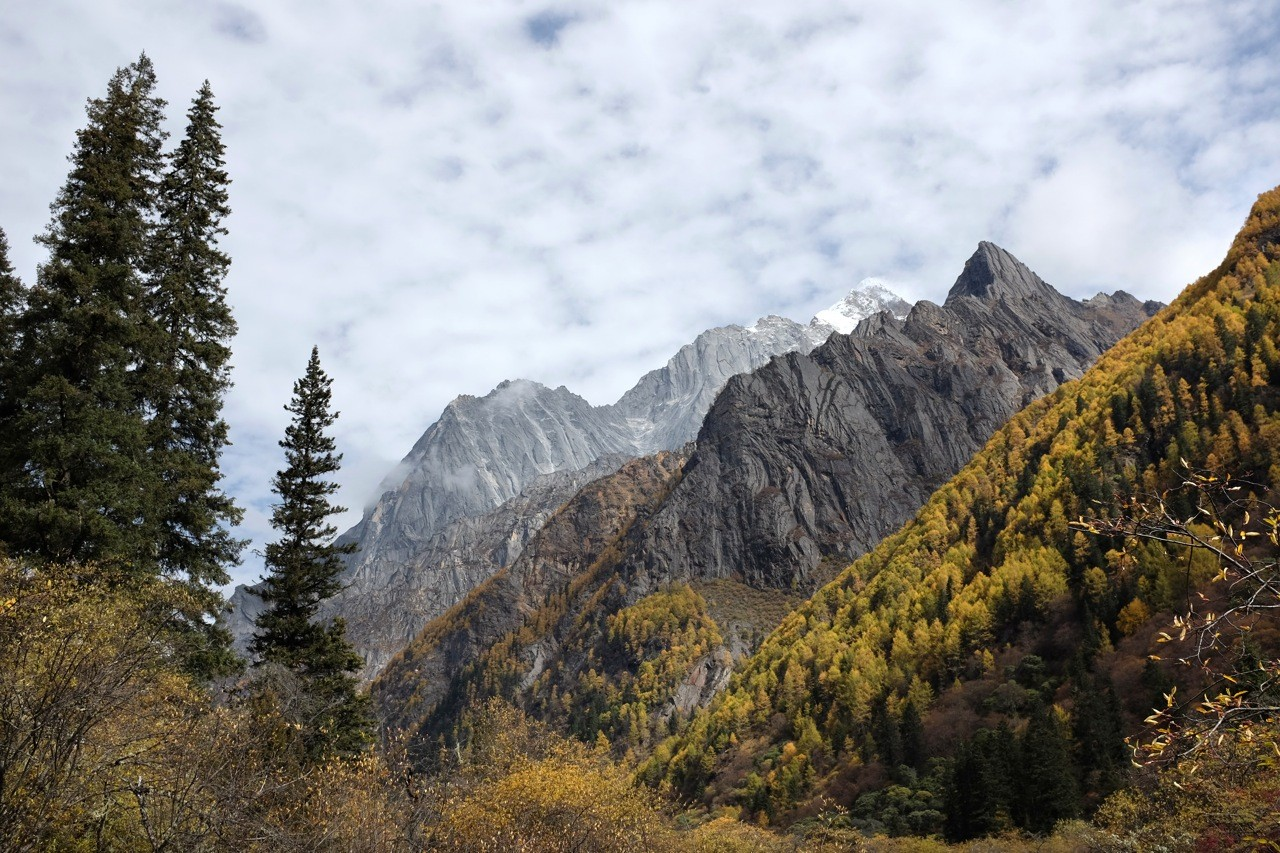 Landschaft im Changping Valley, Mount Siguniang Nature Reserve