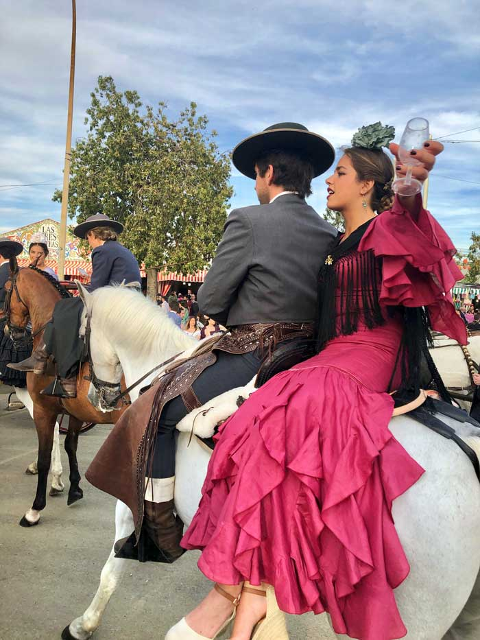 Hoch zu Ross, Feria de Abril Sevilla