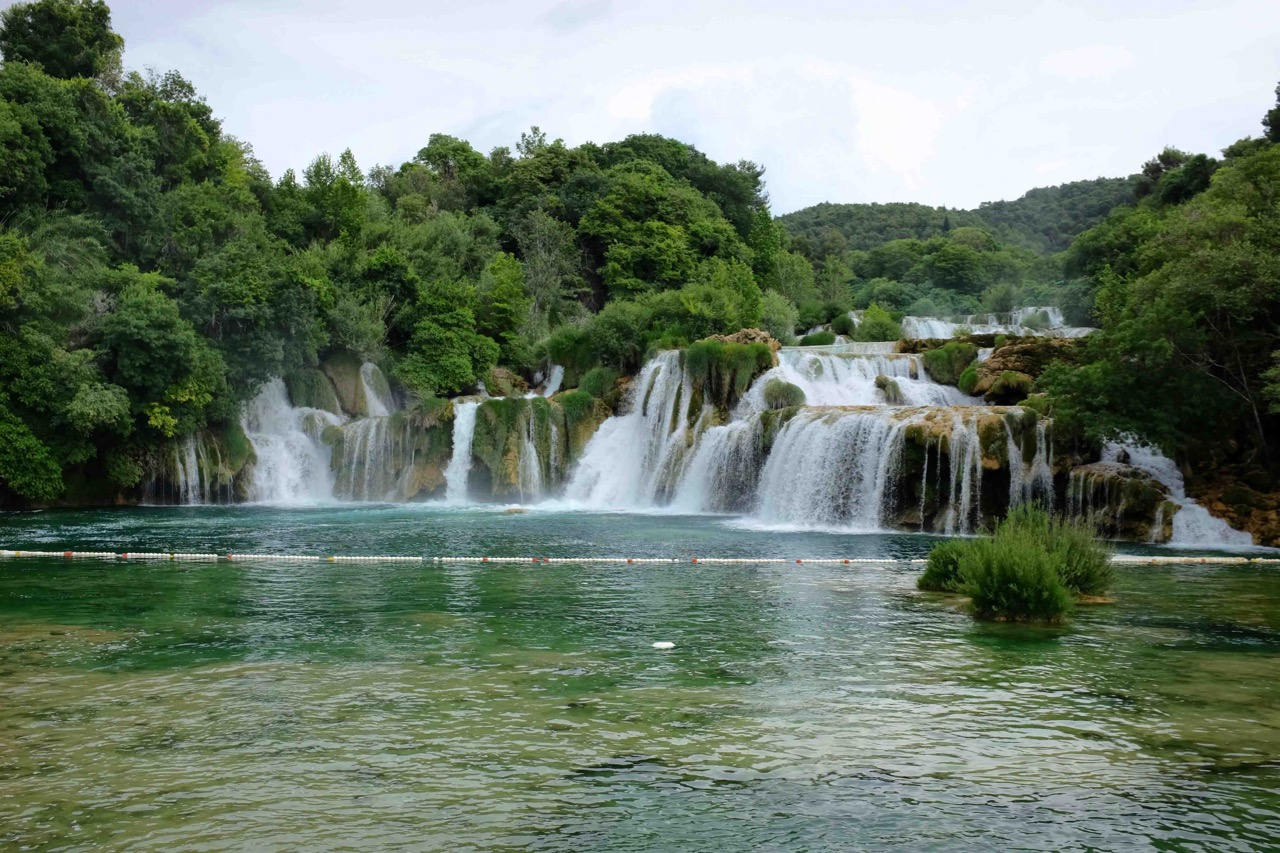Badestelle aus Winnetou im Nationalpark Krka
