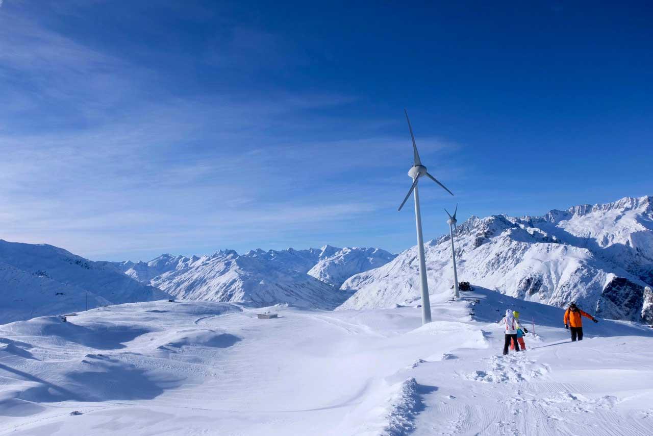 Winterwanderweg,  Gipfelstation Andermatt-Gütsch